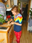 Gladys' Tie-dye kitchen